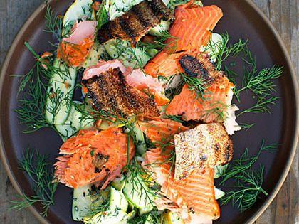 Smoked Salmon Summer Squash Salad