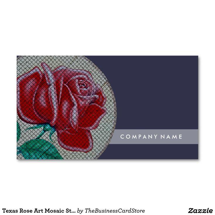 Texas Rose Art Mosaic Style Standard Business Card