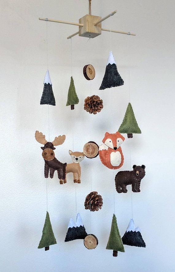 Woodland Baby Mobile || Bergtier Baby Mobile || Wa…