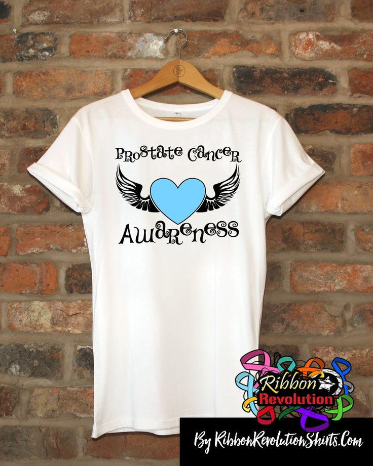 Prostate Cancer Awareness Heart Tattoo Wing Shirts