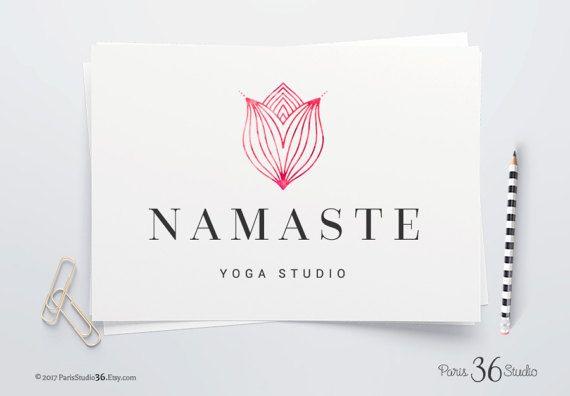 Instant Download Logo DIY Logo Design Photoshop Logo PSD Logo Template Yoga Logo Spa Logo Website Logo Blog Logo Vintage Floral Logo Design
