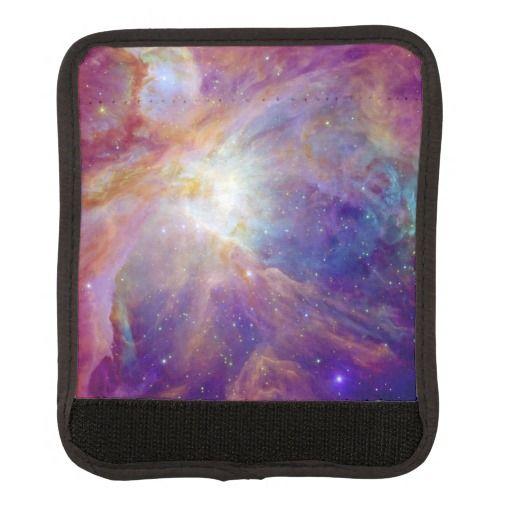 Pink Orion Nebula luggage handle wraps
