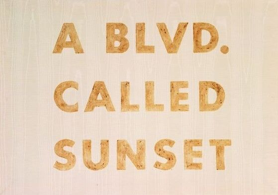 a blvd. called sunset // Los angeles, california