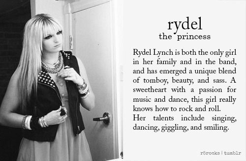 Rydel Lynch: The princess or, what I perfer, the secret weapon