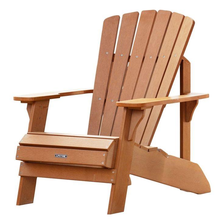 UV Protected Simulated Wood Adirondack Chair