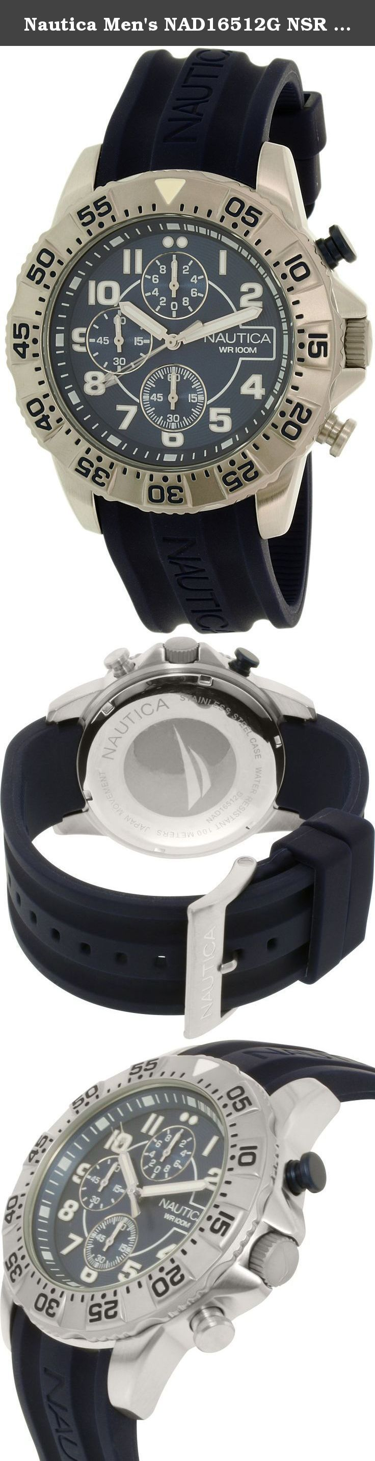 Nautica Men's NAD16512G NSR 104 Analog Display Analog Quartz Blue Watch. Who says casual and classy dont mesh Theres always a way to make it work Laid-back doesnt have to mean boring or drab and this Nautica Nsr 104 watch is proof for those who doubt it Its the perfect in-between a duo of dapper and down-to-earth It features a 44MM stainless steel case that makes for a dapper appearance right off the bat and creates a subtle contrast against the watchs blue dial thats perfectly pleasing…