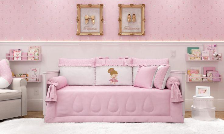 A cama babá também merece um enxoval que combine com o Quarto de Bebê Pequena Bailarina! Por isso, o cantinho da sua menina vai ficar ainda mais especial!