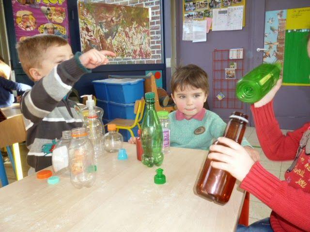 """1ste kleuterklas """"De Kiem"""" Lombeek: Thema: Fles en dop Welke dop hoort bij welke fles?"""