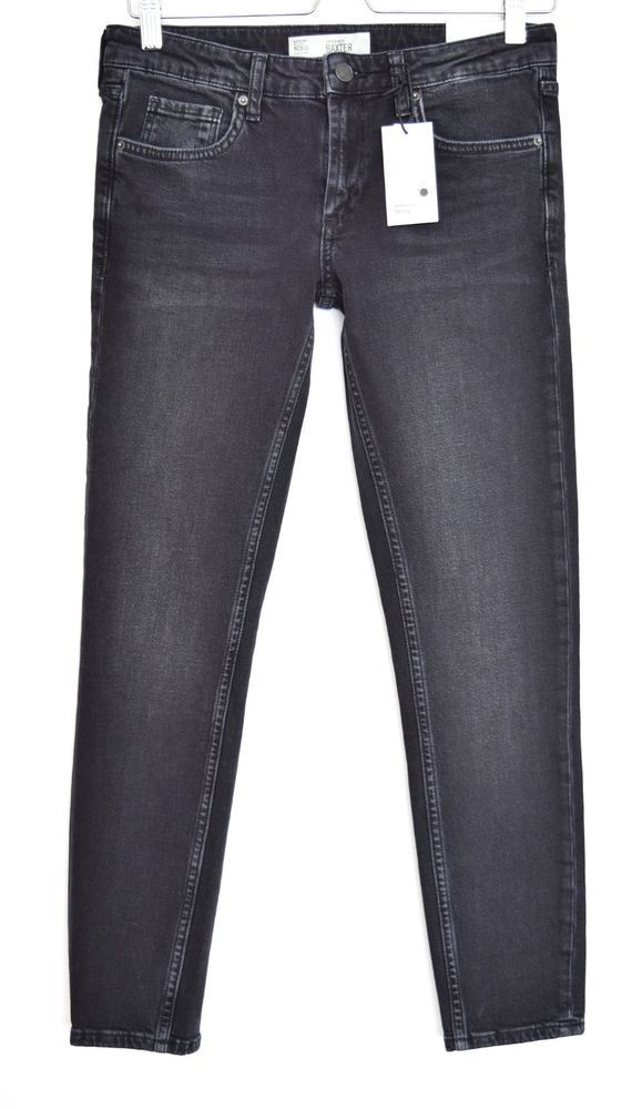 f20cee04d29 NEW Topshop BAXTER SKinny Jeans WASHED BLACK Mid Rise Ankle Jeans 10 W28  L30  fashion  clothing  shoes  accessories  womensclothing  jeans (ebay link )