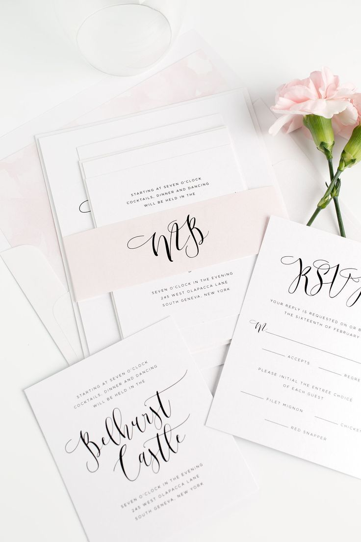 46 Best All About The Blush Wedding Invitations Images On Pinterest