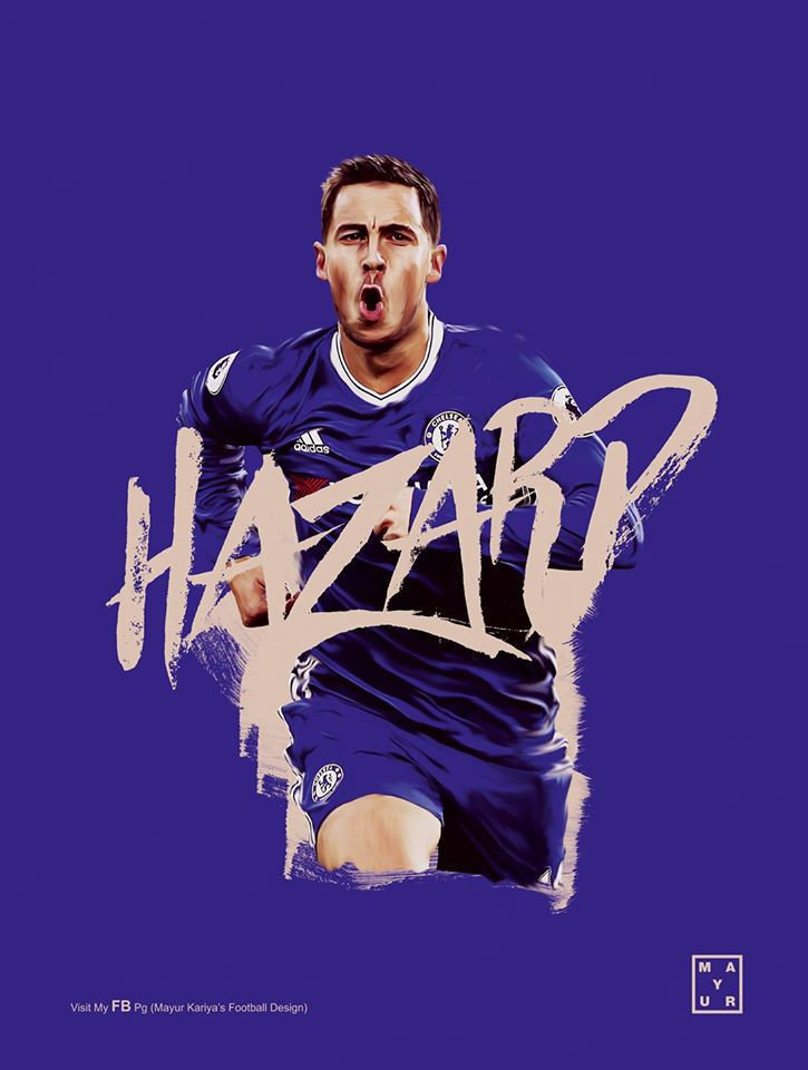 Hazard - Chelsea F.C. on Behance  Posted by AJM Web Services - social media marketing services https://www.ajmwebservices.co.uk