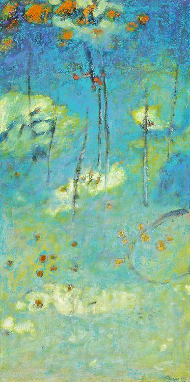 "Above All   oil on canvas   32 x 16""   2014website Rick Stevens Art Tumblr"