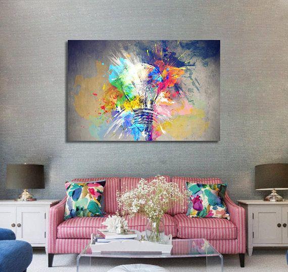 Couleurs De Mur Aquarelle Aquarelle Art Toile Impression Couleur