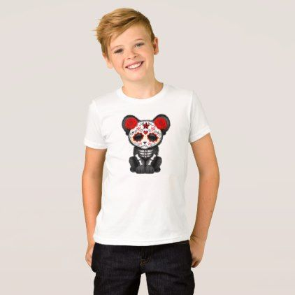 #Red Day of the Dead Black Panther Cub T-Shirt - #cool #kids #shirts #child #children #toddler #toddlers #kidsfashion