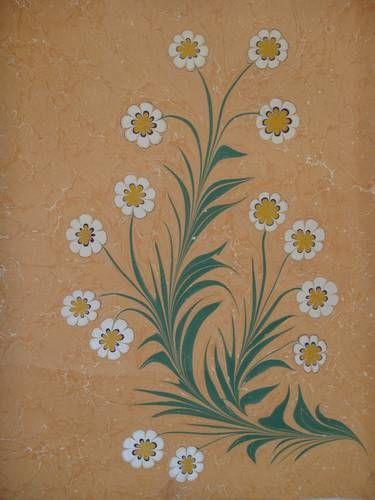 çiçek - ebru marbled flowers (daisies?)