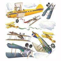 Roommates muursticker vintage vliegtuigen    Ideaal om op het tafelpapier te kleven! Communie thema vliegtuig