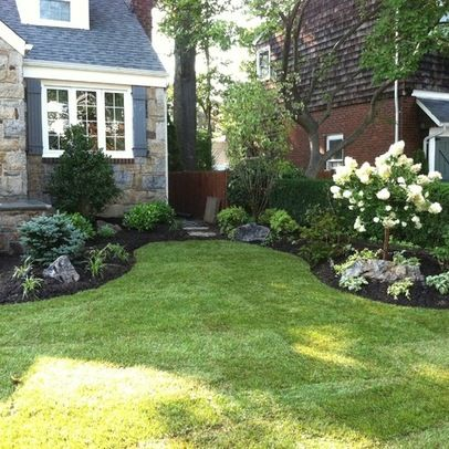 Traditional landscape front yard landscaping design ideas for Landscaped back gardens