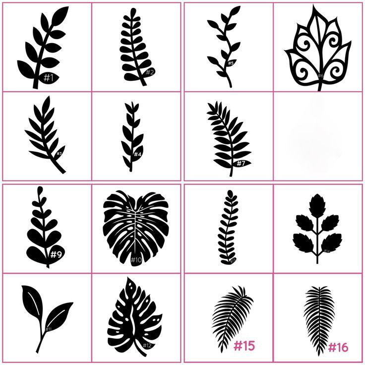 Estas hojas son perfectas para añadir a tus flores de papel hecho a mano. Cantidad 1 = 12 hojas Aproximadamente 11