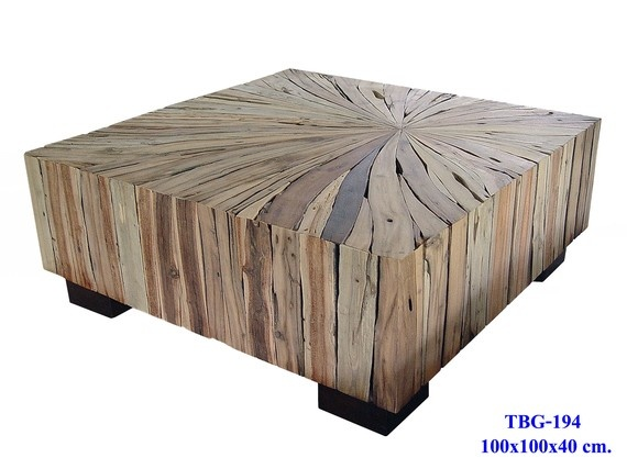 Mixed wood slab coffee table by ThaiSlabFurniture on etsy $1600 including worldwide shipping