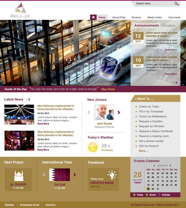132 best ux corporate sitesintranets sharepoint images on a sharepoint intranet design for a very prestigious client in qatar pronofoot35fo Choice Image