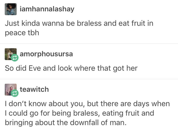 Eve. Braless, eating fruit, downfall of man