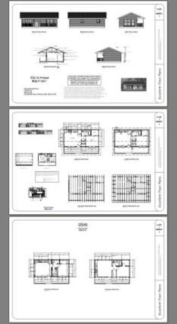 Framing A 10x10 Room: 32x16 House -- 1-Bedroom 1-Bath -- 512 Sq Ft -- PDF Floor