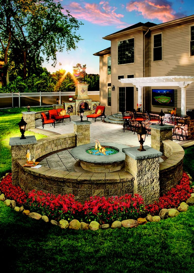 Kitchens: 3 Simple Strategies To Design Outdoor Kitchen Designs Plans Latest Outdoor Kitchen Design With Natural Fire Pit Area And Fireplaces Also Elegant Furniture For Most Popular Exterior House Paint Colors Schemes