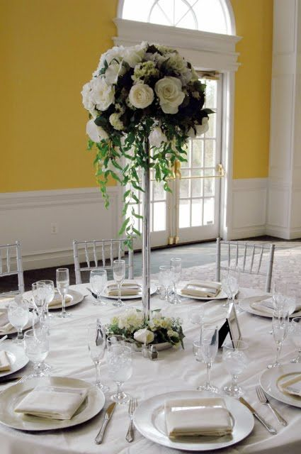We would like 5 of these arrangements. To put on 5 of the tables as centerpieces. We have 5 white eiffle tower vases about 24 in tall, and bouquet holders for them if needed.
