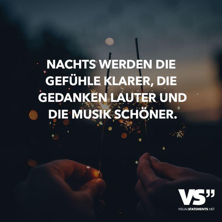 Nachts werden die Gefühle klarer, die Gedanken lauter und die Musik schöner.