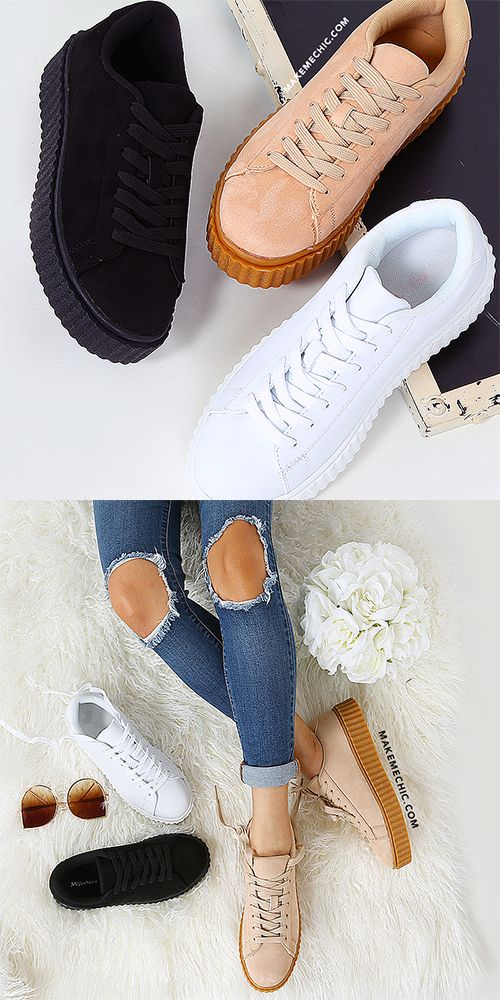Lace Up Suede Sneakers