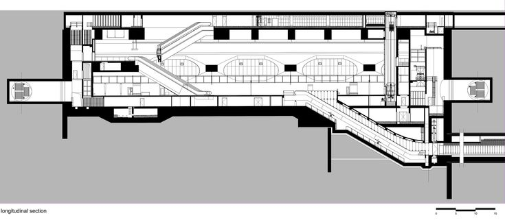 Image 20 of 21 from gallery of Budapest Underground Line M4 - Kálvin tér Station / PALATIUM Studio. Longitudinal Section