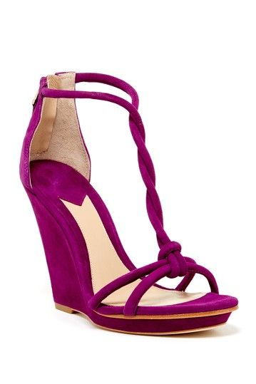 Priscilla Wedge Sandal by B Brian Atwood on @HauteLook