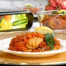 Ryba po grecku - miruna w warzywnej potrawce