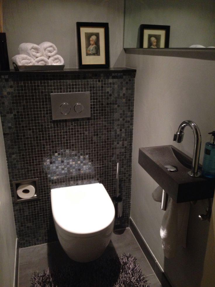 Toilet mozaik frescolori grijs