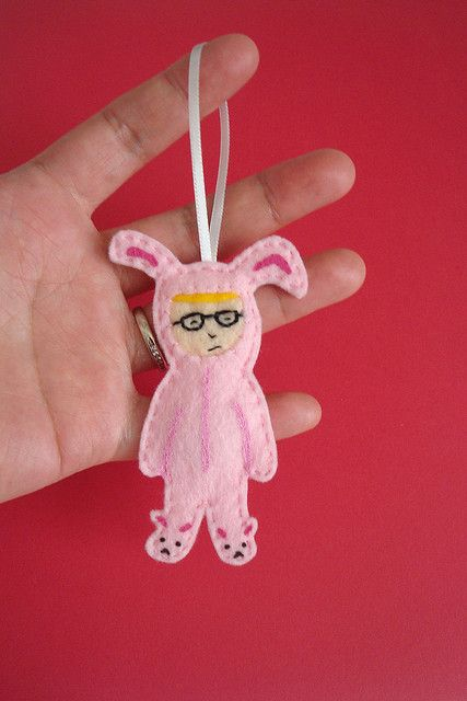 Ralphie in Bunny Suit Ornament | Funny christmas ornaments ...