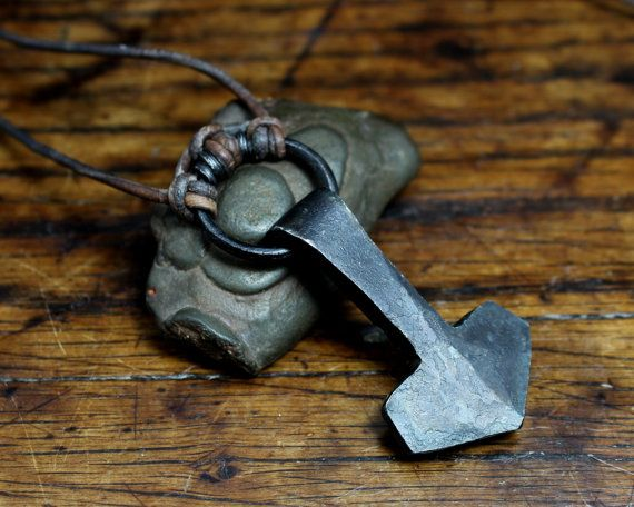 viking thors hammer a forged large ringed iron mjolnir by