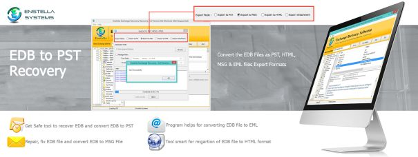 Exchange EDB to PST Conversion Tool that efficiently re-solves all corruption issues from Exchange EDB file into PST, MSG, EML and HTML file in well mode. Software easily & safely saves all recovered data from EDB file into PST outlook file formats.   Read More: - http://www.exportexchangeedbpst.exportedbtopst.com/