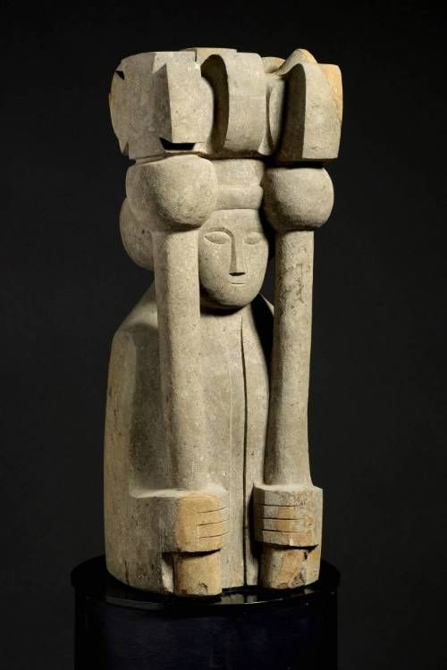 'Coronation' George Kennethson, 1953. Carved from Horton stone.