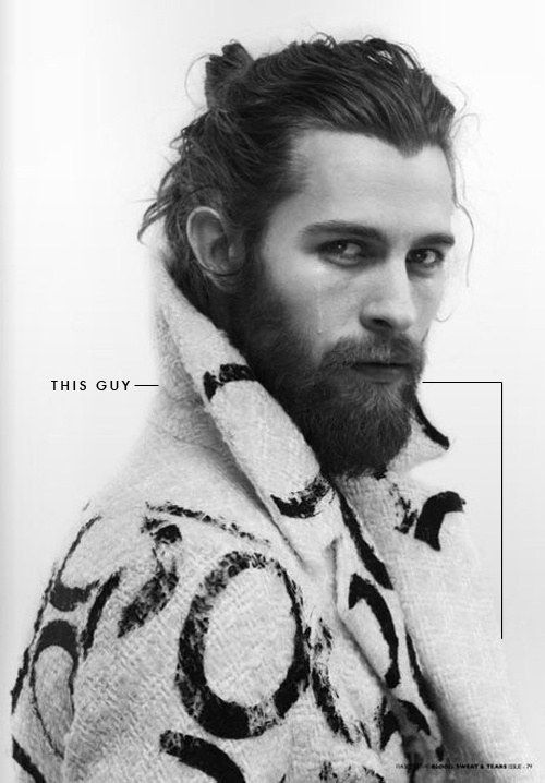 This guy with a single tear running down his perfect face | Community Post: 20 Man Buns That Will Ruin You For Short-Haired Guys