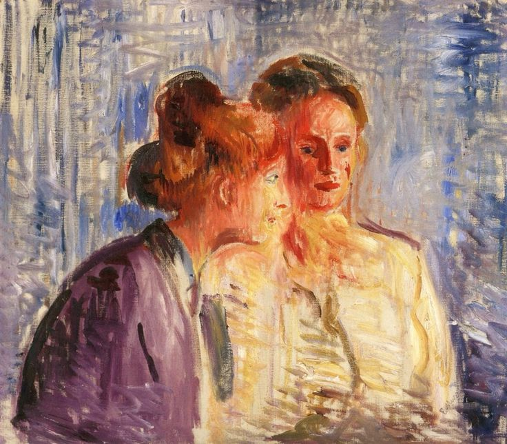 "dionyssos: "" Edvard Munch 1863-1944 Olga and Rosa Meisnner , 1907 Oil on canvas 70 x 80 cm """