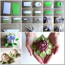 Resultado de imagen para flor de loto origami paso a paso
