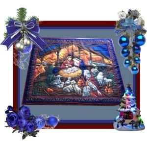 """Nativity Wall Hanging, Hand Quilted Wall Hanging, Handmade Wall Hanging, Christmas Gift for Clergy, Religious Wall Hanging, 36"""" x 42"""""""