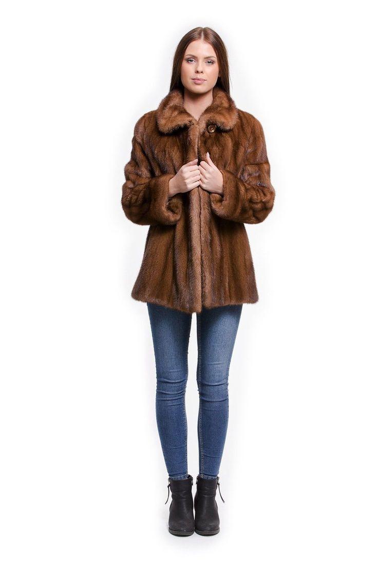 Giacca Pelliccia di visone 3/4 Braccio chiaro giacca. 38 - 40 FURS МЕХА | eBay