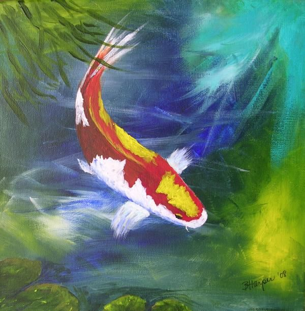 19 best images about koi on pinterest koi art artworks for Japanese koi carp paintings