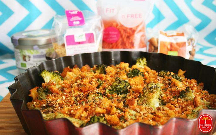 Zapiekany makaron z sosem brokułowo-serowym