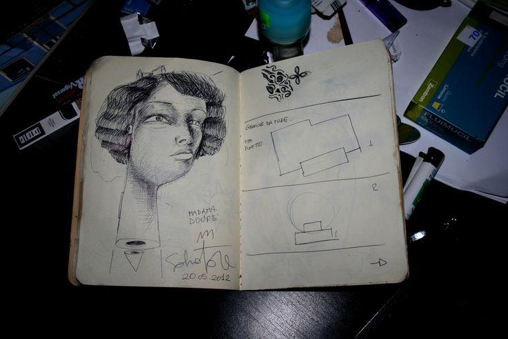 -Madama Dourè- illustration portrait  pen on paper