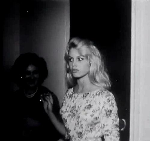"Brigitte Bardot gif. Cute! From the documentary ""Le Mystere Bardot."" xacrosstheuniverse"