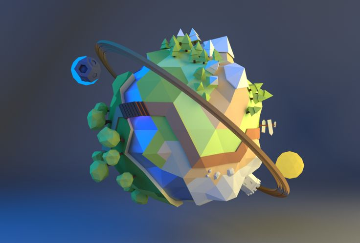Low Poly Planet by merryxmas123 on DeviantArt