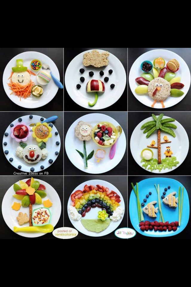 Fun kids food plates for my lil one she will love all these ideas