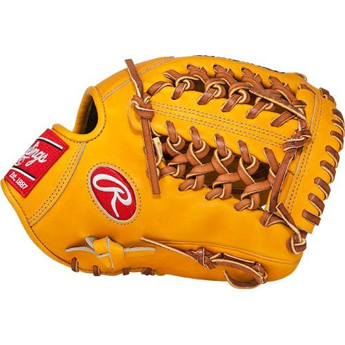 "Rawlings Heart of the Hide Players Series Baseball Gloves, Yellow, 11.5"" RT-LT"